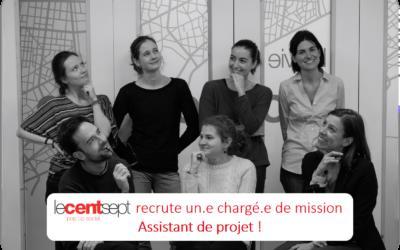 Le Centsept recrute ! – Chargé.e de mission assistant de projet
